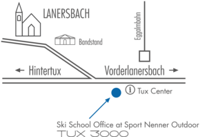 Skischule Tux 3000 - Map