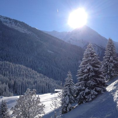 Winter landscape in the Zillertal