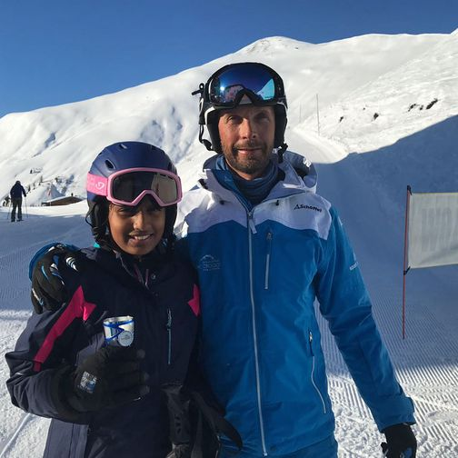 Private skiing instruction