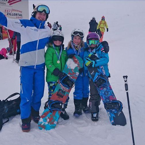 Snowboardtraining für Kinder