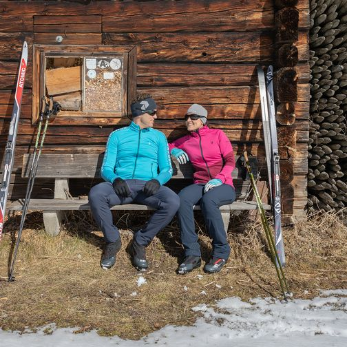 Cross-country ski trail in the Tuxertal