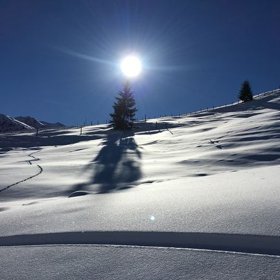 Deep snow in the Zillertal