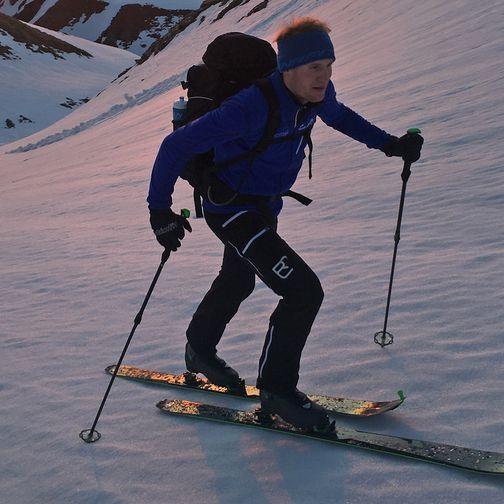 Ski tour at night