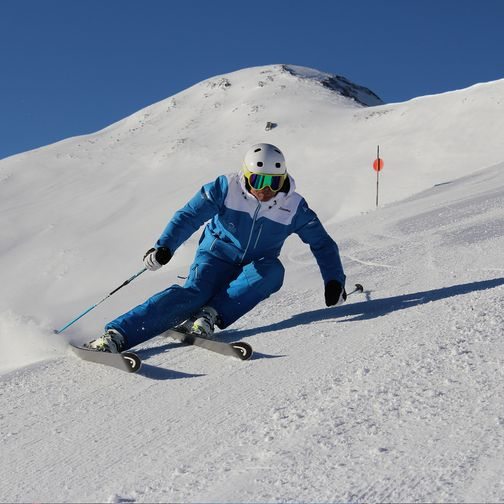 Carving on the slopes