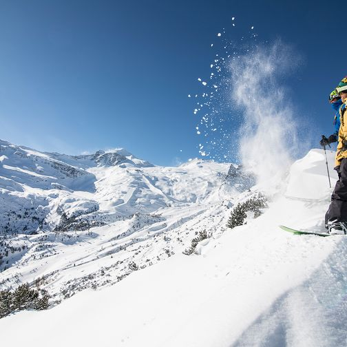 Snowboarden im hinteren Zillertal